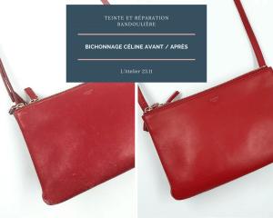 bichonnage sac céline rouge