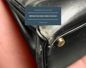 réparation des coins d'un sac